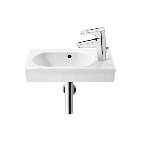 ROCA Lavabo de porcelana compacto suspendido - Serie Meridian , Color Blanco