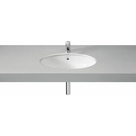 ROCA Lavabo de porcelana de bajo encimera - Serie Berna , Color Blanco