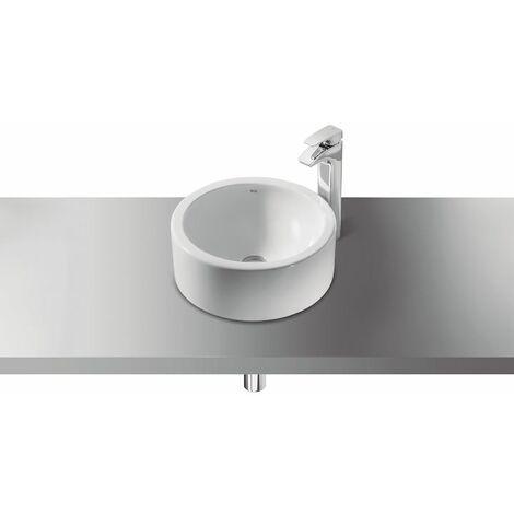 ROCA Lavabo Sobre encimera 39x39 cm blanco - Serie Terra - No incluye grifería.