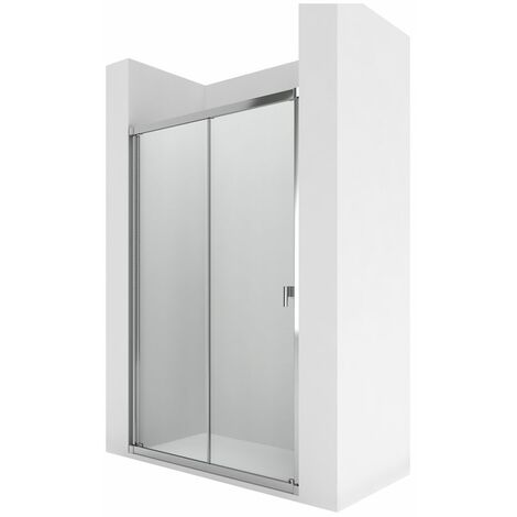 Roca Mampara Easy L2-E 1950x1300 Transp. Color Plata Mate