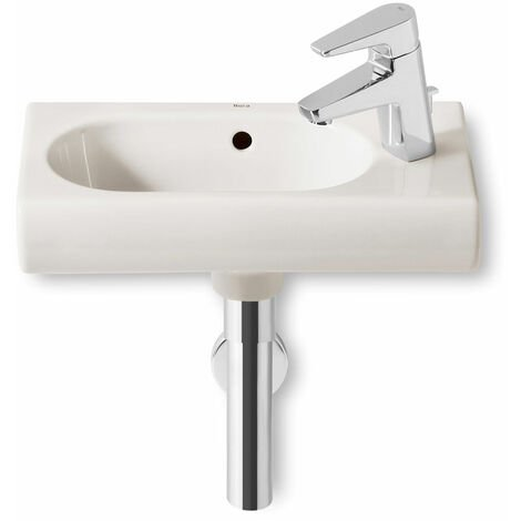 Roca Meridian-N Compact Wall Hung Basin, 450mm Wide, 1 RH Tap Hole