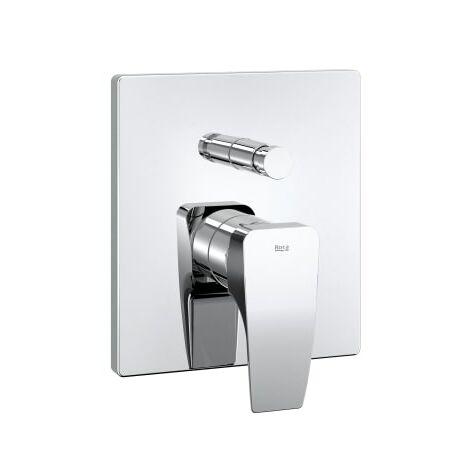 Roca - Mezclador empotrable para baño o ducha, cromado - Serie Thesis - A5A0B50C00