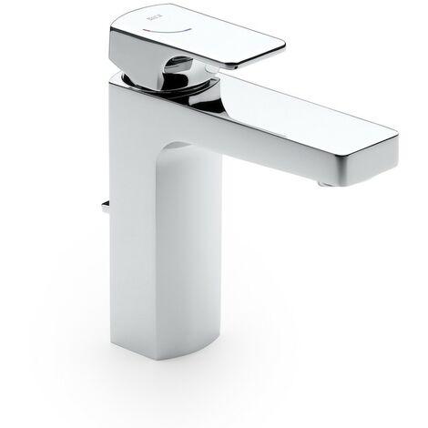 Roca-Mezclador monomando L90 para lavabo con desagüe automático. Cold Start