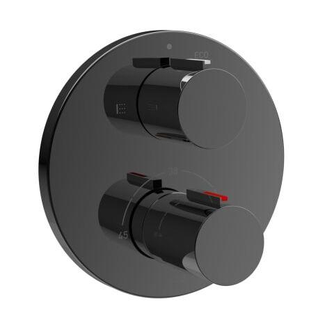Roca-Mezclador termostático empotrable T-100 para baño-ducha con desviador-regulador de caudal