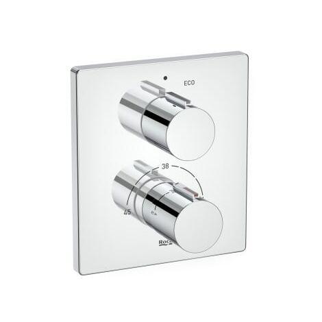 Roca-Mezclador termostático empotrable T-2000 para baño-ducha. Incluye RocaBox ref. A525869403 - Roca