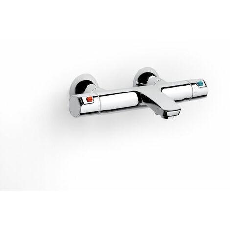 ROCA Mezclador termostático exterior con desviador-regulador de caudal para baño-ducha - Serie T-500