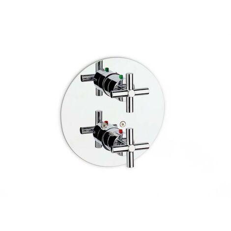 Roca - Mezclador termostático exterior para ducha con ducha teléfono flexible de 150 m y soporte articulado - Serie Loft - 8414329490244