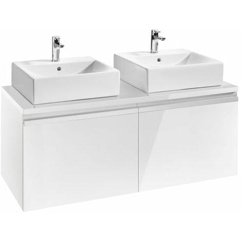Roca - Mueble base para dos lavabos sobre encimera - Serie Heima