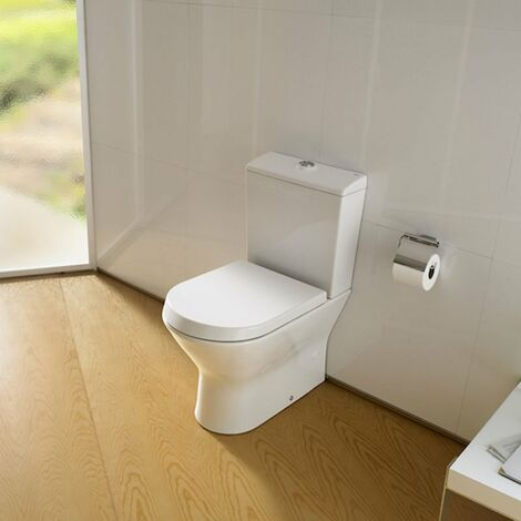 Roca Nexo Compact Closed Coupled Toilet WC Push Button Cistern - Standard Seat