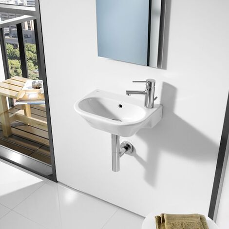 Roca Nexo Wall Hung Basin 405mm Wide 1 Tap Hole White
