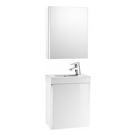 Roca - Pack con armario espejo (mueble base lavabo y armario espejo) - Serie Mini