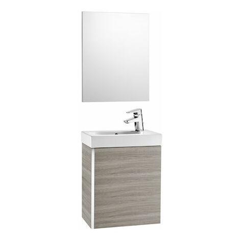 Roca - Pack con espejo (mueble base lavabo y espejo) - Serie Mini
