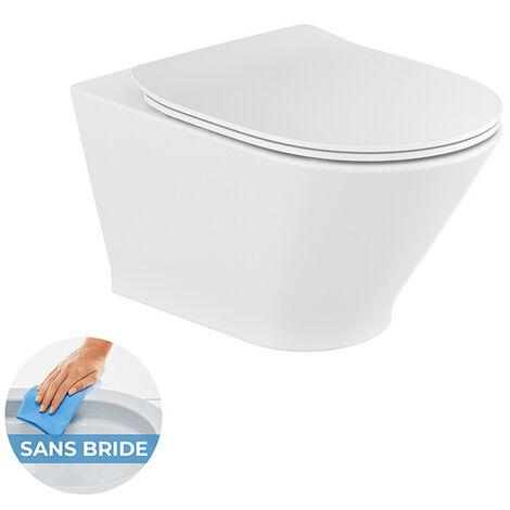 Roca Pack WC suspendu The Gap sans bride + Abattant softclose (TheGapRimless)