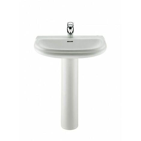 ROCA Pedestal para lavabo de porcelana - Serie Dama Retro , Color Blanco