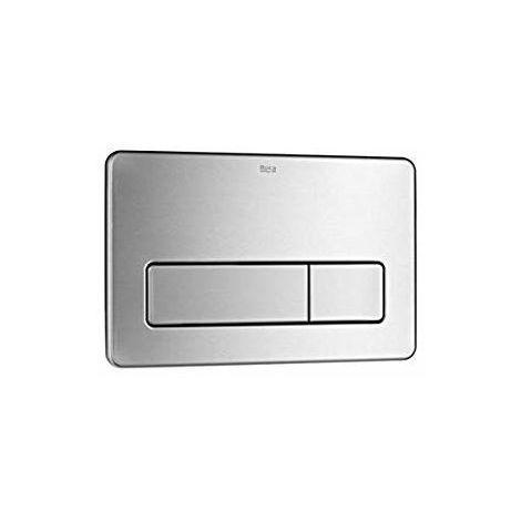 ROCA PL3 DUAL - Placa de accionamiento antivandálica de acero inoxidable con descarga dual - Serie In-Wall