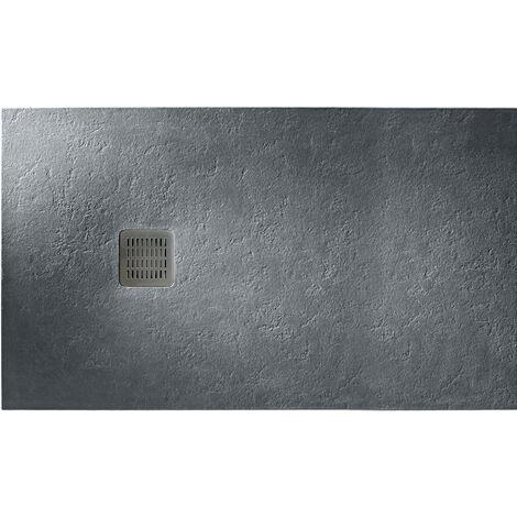 ROCA Plato de ducha 100 x 80 cm resina - Terran basic - Incluye desagüe - - Pizarra York