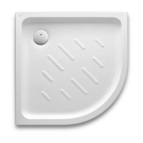 Roca - Plato de ducha acrílico angular con fondo antideslizante (750 x 750 x 65 mm) - Serie Easy - Color Blanco o Pergamon