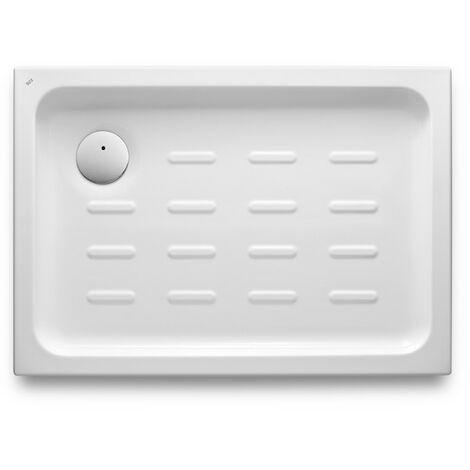 Roca - Plato de ducha acrílico con fondo antideslizante (100 x 70 x 65 cm) - Serie Easy - Color Blanco o Pergamon