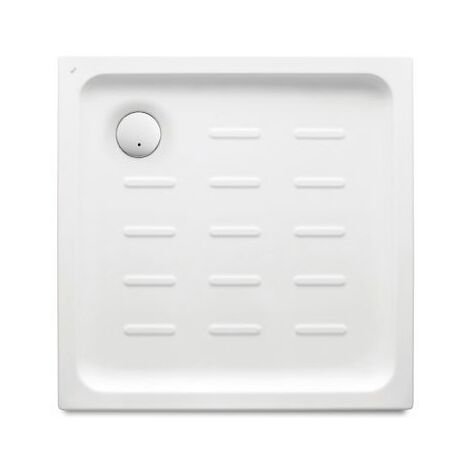 Roca - Plato de ducha acrílico con fondo antideslizante (750 x 750 x 65 mm) - Serie Easy - Color Blanco o Pergamon