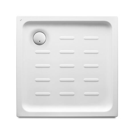 Roca - Plato de ducha acrílico con fondo antideslizante - Serie Easy - Color Blanco o Pergamon