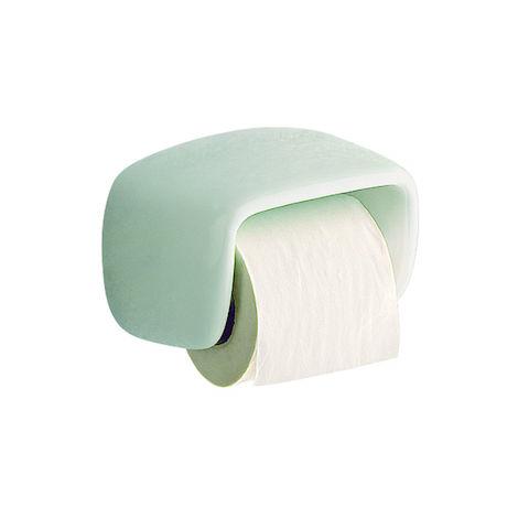 ROCA Portarrollo con tapa - Serie Onda Plus , Color Blanco