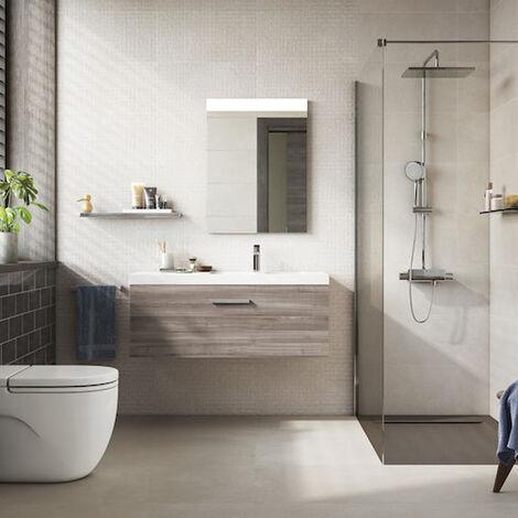 Roca Prisma Comfort Mirror with LED Lighting 800mm H x 600mm W