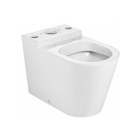 ROCA ROUND - Taza para inodoro de porcelana adosado a pared con salida dual - Serie Inspira , Color Blanco