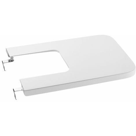 ROCA SQUARE - Tapa de SUPRALIT® para bidé con caída amortiguada - Serie Inspira , Color Blanco
