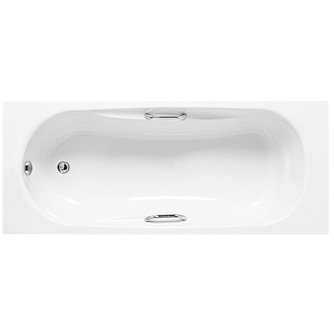 Roca Sureste Single Ended Acrylic Bath with Feet and Grips 1700mm x 700mm - 2 Tap Hole