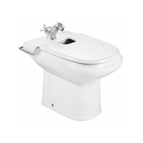 ROCA Tapa lacada para bidé - Serie Dama Retro , Color Blanco