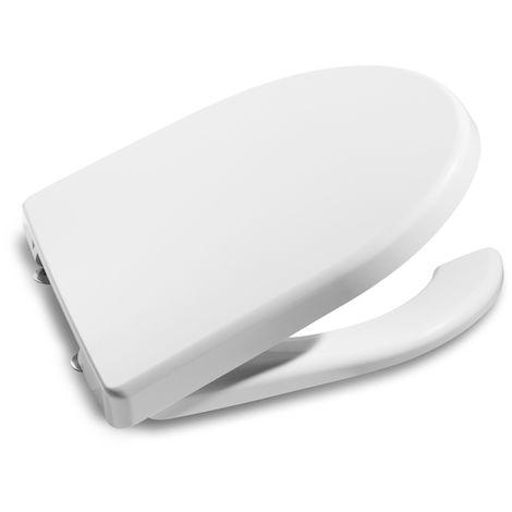 ROCA Tapa y aro con apertura frontal - Serie Meridian , Color Blanco