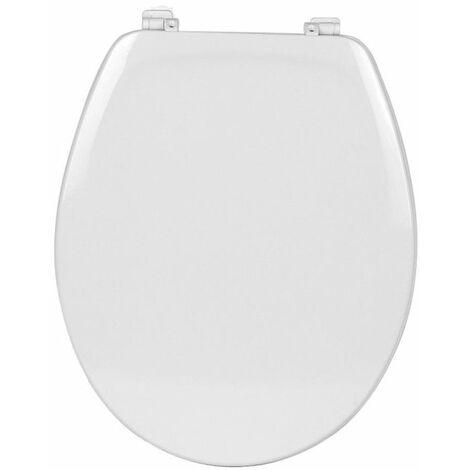 Roca - Tapa y aro de plástico para inodoro con bisagras de plástico - Serie Victoria