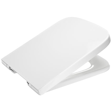 ROCA Tapa y aro lacado para inodoro con caída amortiguada - Serie Dama, Color Blanco