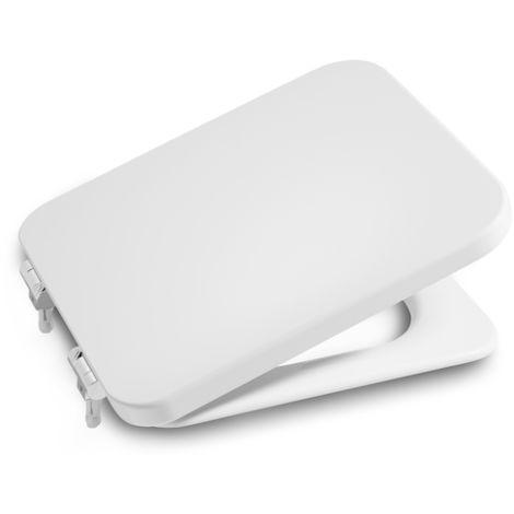 ROCA Tapa y aro lacado para inodoro con caída amortiguada - Serie Element , Color Blanco