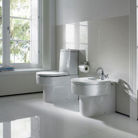ROCA Tapa y aro lacado para inodoro con caída amortiguada - Serie Happening , Color Blanco