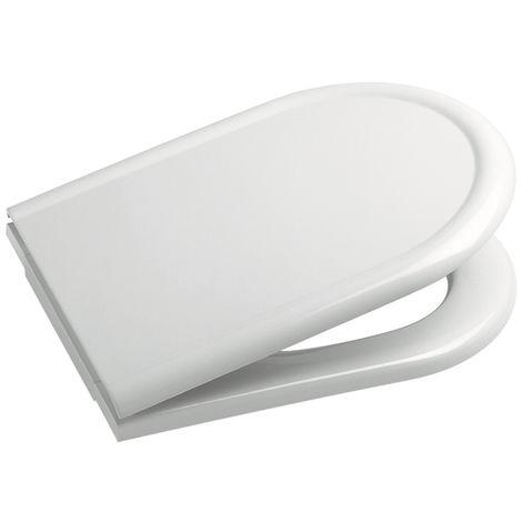ROCA Tapa y aro para inodoro con caída amortiguada - Serie Civic , Color Blanco