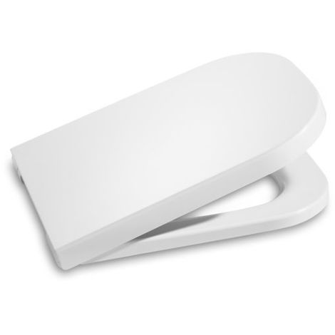 Tapa y aro para inodoro con caída amortiguada - Serie The Gap , Color Blanco - Roca