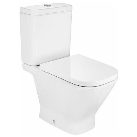 Taza (sin cisterna/asiento) para inodoro de porcelana con salida a pared - Serie The Gap , Color Blanco - Roca