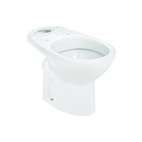 ROCA Taza para inodoro de porcelana con salida a pared - Serie Victoria , Color Blanco