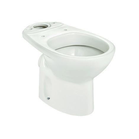 ROCA Taza para inodoro de porcelana con salida a pared - Serie Victoria , Color Pergamon