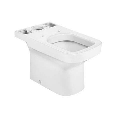 Roca - Taza para inodoro de porcelana con salida a suelo - Serie Dama