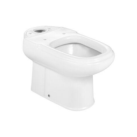 Roca - Taza para inodoro de porcelana con salida a suelo - Serie Dama Retro