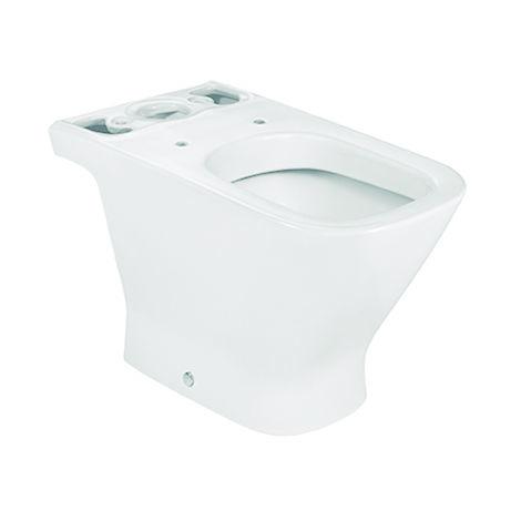 ROCA Taza para inodoro de porcelana con salida a suelo - Serie The Gap , Color Blanco