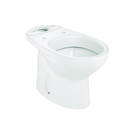 ROCA Taza para inodoro de porcelana con salida a suelo - Serie Victoria , Color Pergamon