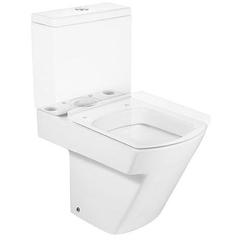 ROCA Taza para inodoro de porcelana con salida dual - Serie Hall , Color Blanco