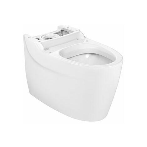 ROCA Taza para inodoro de porcelana con salida dual - Serie Khroma , Color Blanco