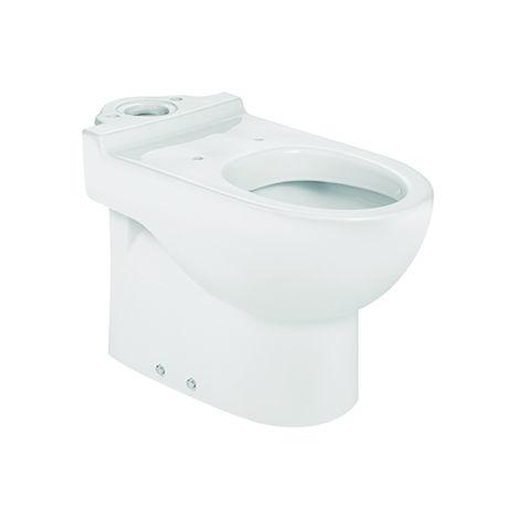 ROCA Taza para inodoro de porcelana con salida dual - Serie Meridian , Color Blanco