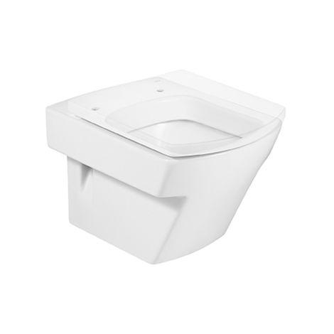 Roca - Taza para inodoro de porcelana suspendido compacto con salida a pared - Serie Hall (35,5 x 50 x 40 cm) - Varios colores