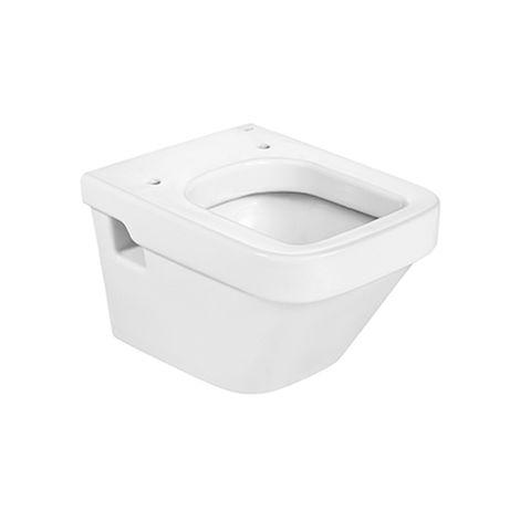 ROCA Taza para inodoro de porcelana suspendido con salida a pared - Serie Dama , Color Blanco