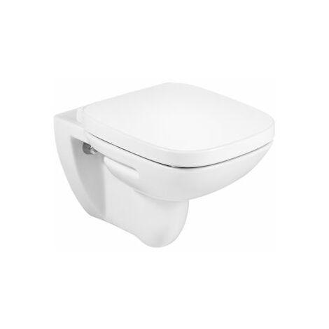 ROCA Taza para inodoro de porcelana suspendido con salida a pared - Serie Debba , Color Blanco